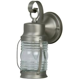 Craftmade Z112-28 Wall Lantern with Clear Glass Shades, Nick