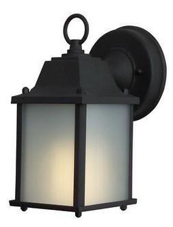 Craftmade Z192-TB-NRG One Light Matte Black Frosted Glass Wa