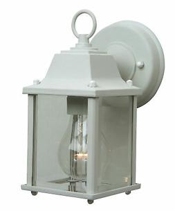 "Craftmade Z192 White Coach Lights 9"" Outdoor Wall Sconce"